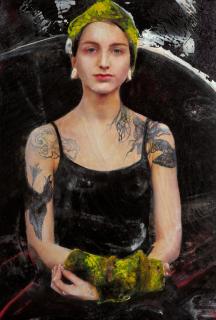 Obra de Lita Cabellut. Cortesía del MEAM