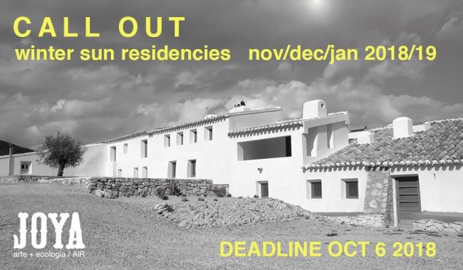 Joya: arte + ecología - Winter Sun Residency Open Call