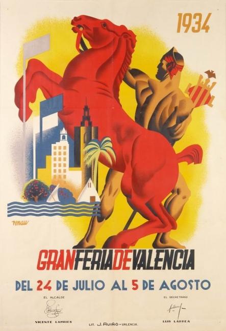 5.Josep Renau. Gran Feria de Valencia. Litografía J. Aviñó. Valencia, 1934. Litografía. 100 × 70 cm.