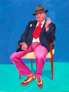David Hockney, Barry Humphries, 26, 27 y 28 de marzo de 2015. Acrílico sobre lienzo. 121,9 x 91,4 cm © David Hockney. Photo credit: Richard Schmidt
