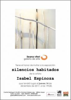 SILENCIOS HABITADOS. Imagen cortesía Galería Ileana Viteri