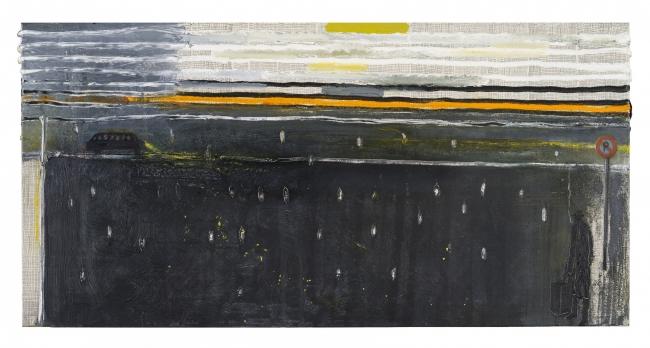 Pelayo Ortega, Viaje en autobús. MOM 27552. Foto: M.Blanco – Cortesía de la Galería Marlborough | Ir al evento: 'El rostro triste y el corazón feliz'. Exposición en Marlborough / Madrid, España