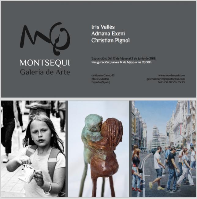 Galería Montsequi, Iris Vallés, Adriana Exeni, Christian Pignol