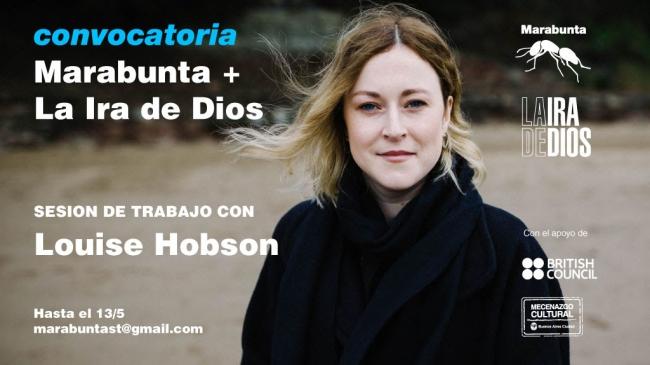 Sesiones de trabajo con la curadora Louise Hobson. Imagen cortesía La Ira de Dios