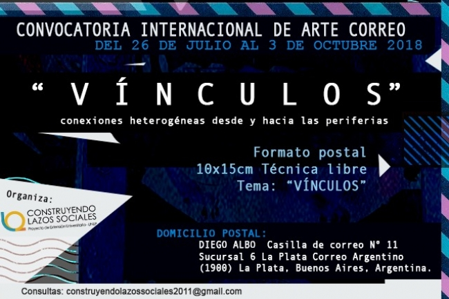 Convocatoria Internacional de Arte Correo - Vínculos