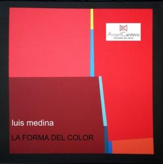 Obra de Luis Medina, tarjeta invitación