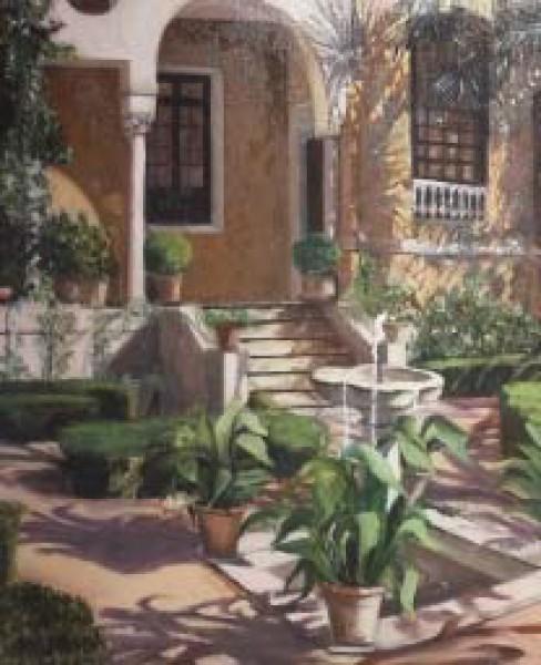 María Rubio, Patio Museo Sorolla (1º premio - óleo)