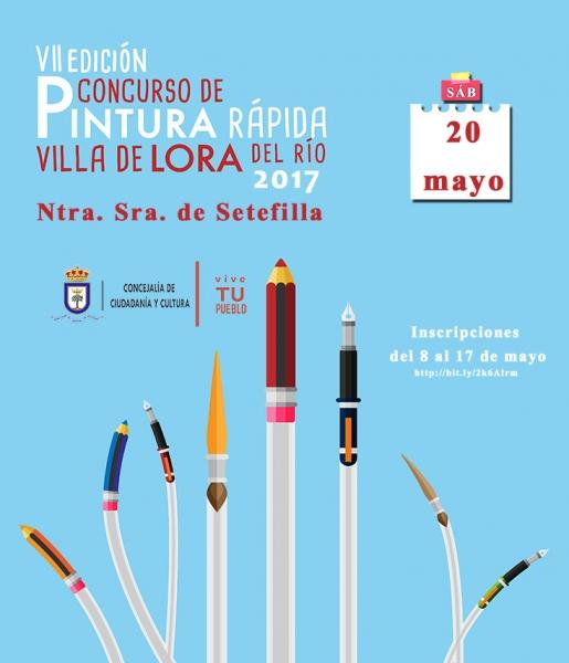 VII Concurso de Pintura Rápida Villa de Lora del Rió Nuestra Señora de Setefilla 2017