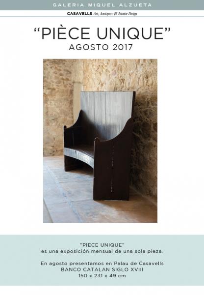 PIÈCE UNIQUE AGOSTO 2017