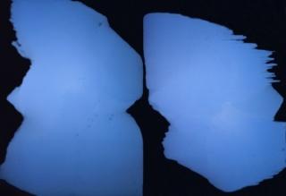 Rubén Rodrigo, Azul Real, 2017. Óleo sobre lienzo, 220 cm x 324cm. Díptico
