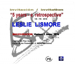 5 Years a retrospective by Leslie Lismore.