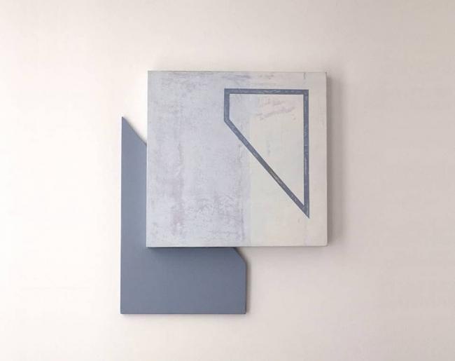 Lo rugoso / Lo pulido [Byung-Chul Han como pretexto] S/T. 9, 2018. Acrílico sobre tabla. 40 x 35 cm / Pep Sales Gabarda
