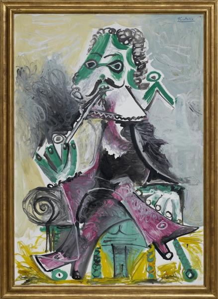 Mousquetaire a la pipe (1968). Pablo Picasso. Óleo sobre tela