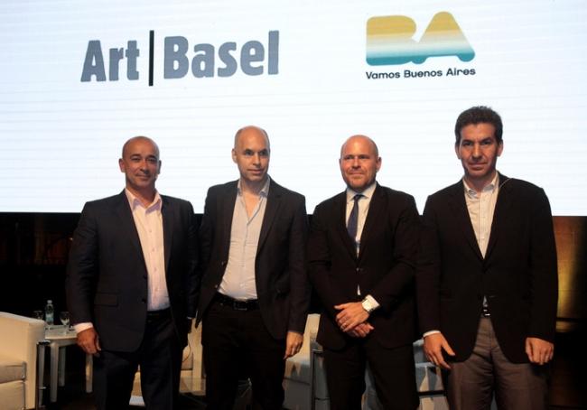 Patrick Foret, Horacio Rodríguez Larreta, Marc Spiegler y Andy Freyre. De Izda a dcha.