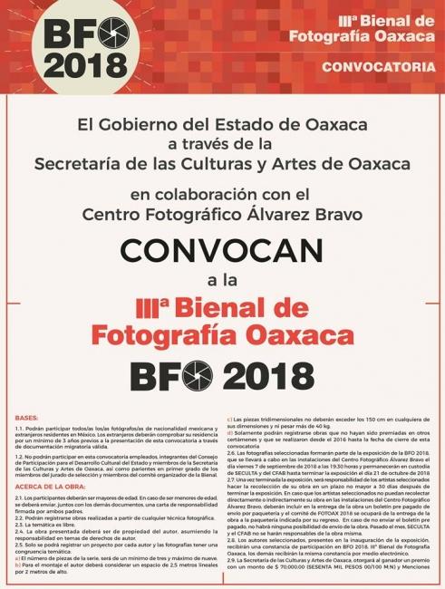 IIIª BIENAL DE FOTOGRAFÍA OAXACA - BFO 2018