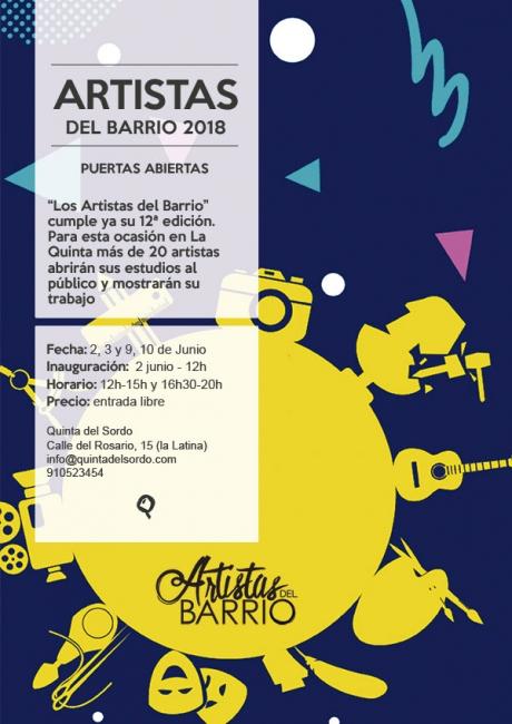Cartel Open Studio Quinta del Sordo