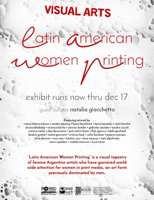 LATIN AMERICAN WOMEN PRINTING. Imagen cortesía Miami Art Guide