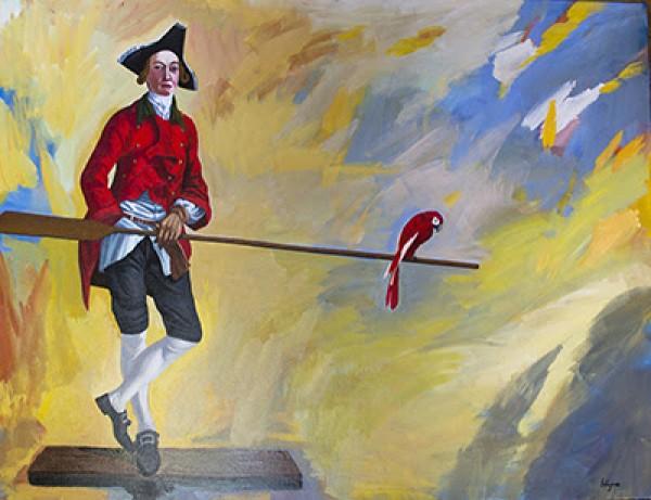 Lázaro García Medina, Óleo sobre lienzo. 97 x 130 cm