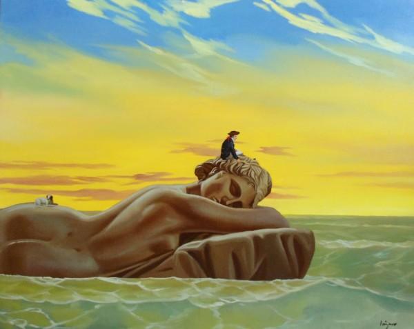 Lázaro García Medina, Óleo sobre lienzo. 97 x 130 cm | Ir al evento: 'Los Cantares de Robinson Crusoe'. Exposición de Pintura en Galería Alonso Vidal / Barcelona, España