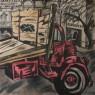 Marcia Schvartz, Camión blanco y negro, 1983. Óleo/Tela. 100 x 100 cm