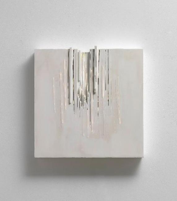 Pablo Armesto, Light Storming, 2017. Técnica mixta,77x77x14 cm. – Cortesía de Marlborough Barcelona | Ir al evento: 'Más que luz'. Exposición en Marlborough Barcelona / Barcelona, España