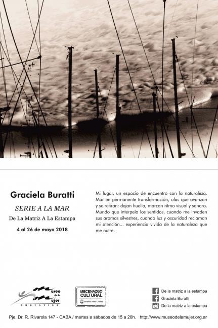 Flyer de Exposición de Graciela Buratti