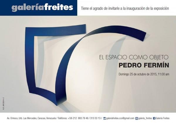 Pedro Fermín, El espacio como objeto