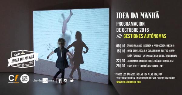 Programación OCTUBRE: Gestión Autónoma de Arte