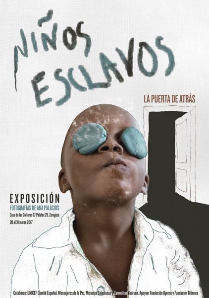 Cartel Expo Niños Esclavos. La puerta de atrás
