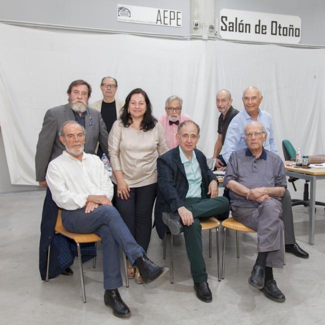 Jurado del premio - Cortesía de la Asociación Española de Pintores y Escultores (AEPE)