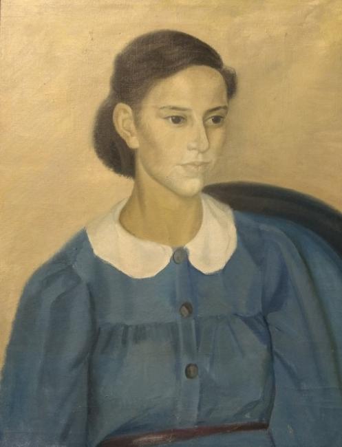 Delhy Tejero. Retrato de la niñera Teresa. Imagen cortesía Galería José Lorenzo