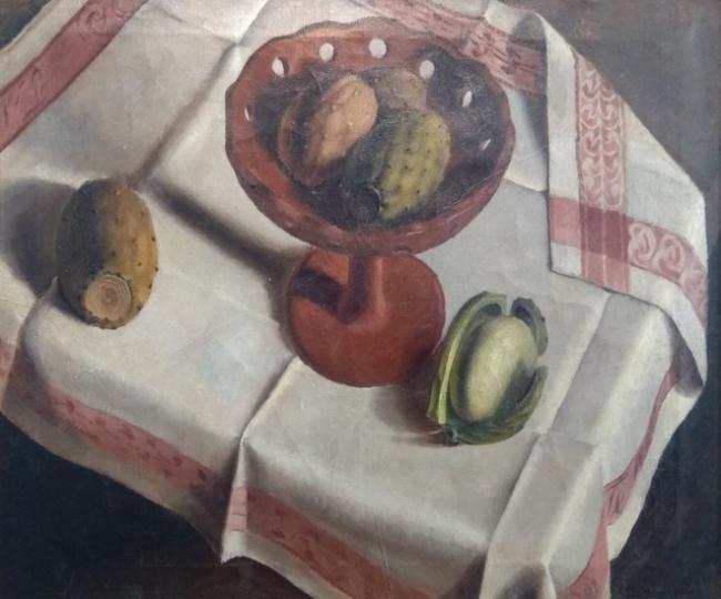 Mariano Cossío. Bodegón. Óleo sobre lienzo. Imagen cortesía Galería José Lorenzo
