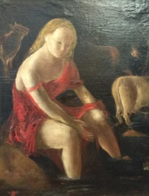 Rosario de Velasco. ST. Óleo sobre lienzo. Imagen cortesía Galería José Lorenzo