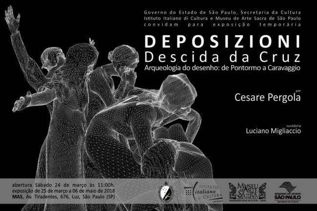 DEPOSIZIONI, DESCIDA DA CRUZ. ARQUEOLOGIA DO DESENHO: DE PONTORMO A CARAVAGGIO. Imagen cortesía Cesare Pergola