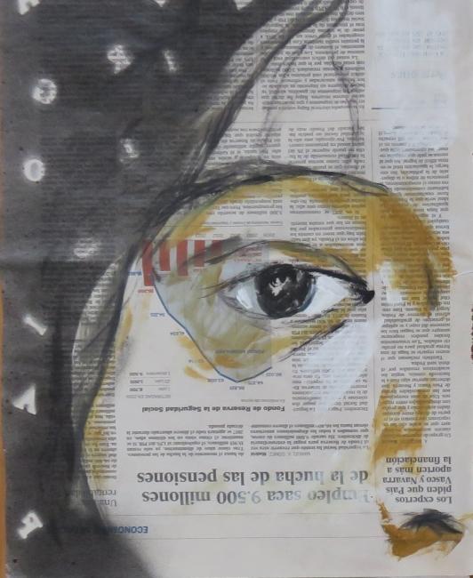 Luis Moro, Mujeres Juarez 2 (detalle) — Cortesía del artista