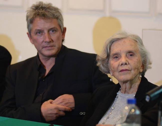 Luis Moro y Elena Poniatowska — Imagen cortesía del artista