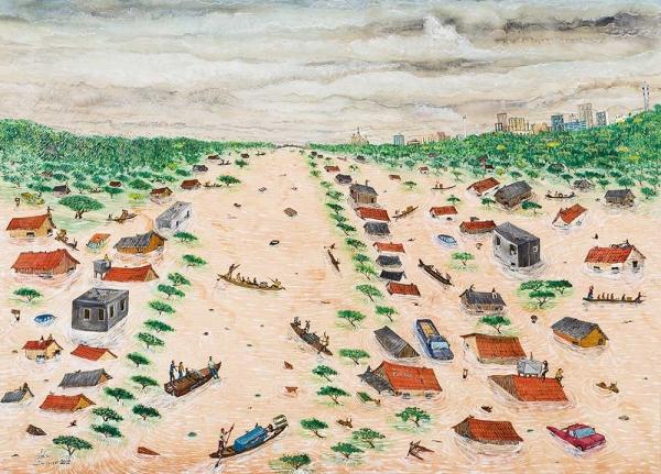 Adão Domiciano, Extremo I. Aquarela sobre papel, 45x62 cm.