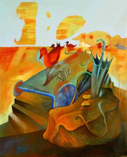 El Hortelano, Tábula rasa NY. Óleo sobre lienzo. 147 x 119cm. 1988
