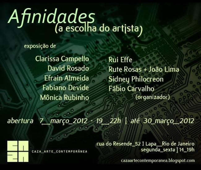 AFINIDADES (a escolha do artista)