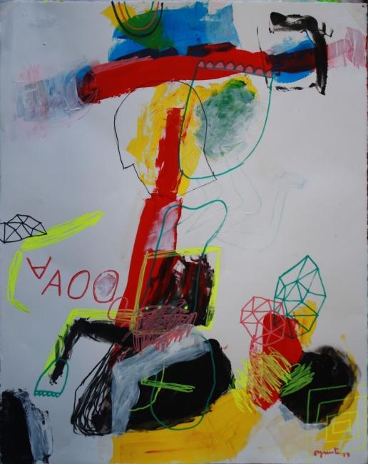 AAOOO. 76x58. tec. mixta-papel 2017 | Ir al evento: 'Multiplex'. Exposición de Pintura en Off Frame Gallery / Cracow, Malopolskie, Polonia