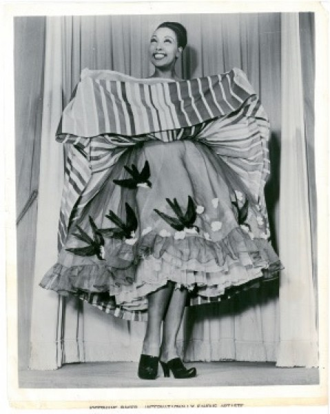 Vintage post card. Josephine Baker. Paris, 1960-ies. From the private collection of the Alexandre Vassiliev Foundation