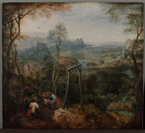 Pieter Brueghel_Die Elster auf dem Galgen, ca 1568. Hessisches Landesmusum Darmstadt. Argazkia © Wolfgang Fuhrmannek