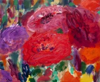Flor de pasión, óleo sobre tela, 60x73 cms.2015