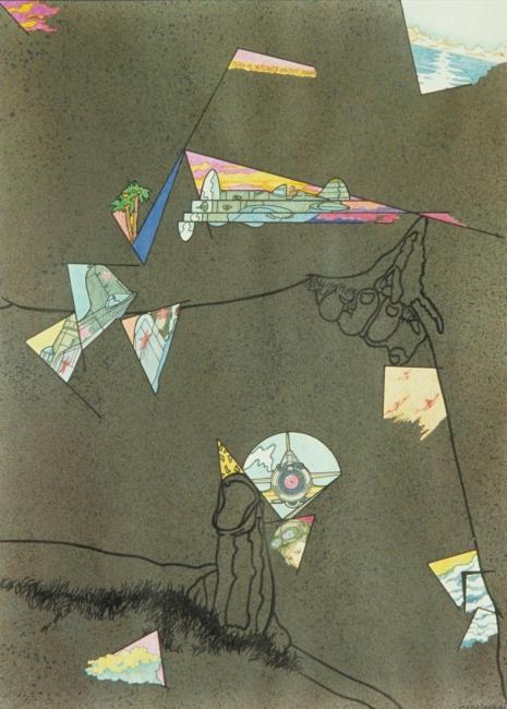 S/T, técnica mixta sobre cartulina, 43 x 33 cm. Jorge Carruana Bances, 1981 – Cortesía de Twin Gallery