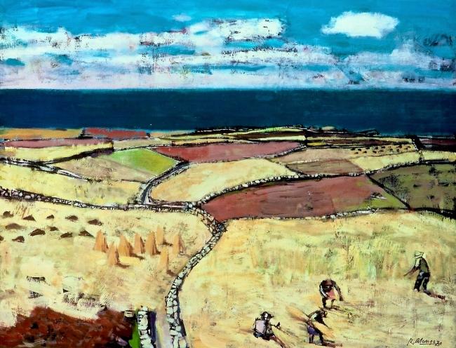 "Rafael Alonso ""La siega"" | Ir al evento: 'Rafael Alonso'. Exposición de Pintura en Soho de Vigo / Vigo, Pontevedra, España"