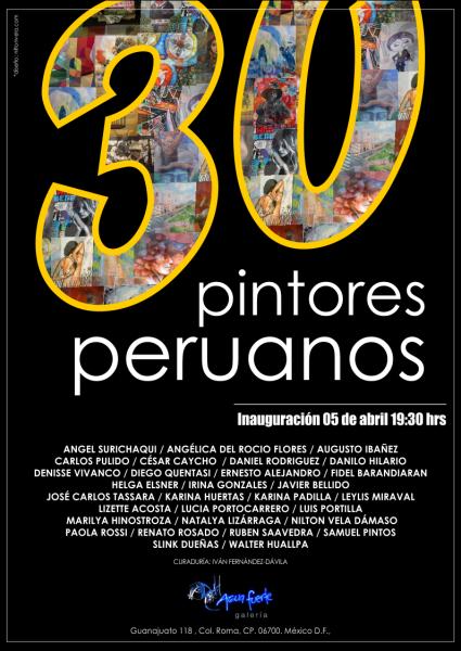 30 pintores peruanos