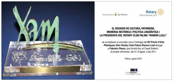 XV Premi d\'Arts Plàstiques Xam Rotary Club Palma Ramon Llull