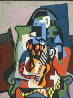 Pablo Picasso, Arlequin musicien, 1924, huile sur toile, 130 x 97.2 cm, Washington, National Gallery of Art Given in loving memory of her husband, Taft Schreiber, by Rita Schreiber, 1989.31.2 © Succession Picasso 2018