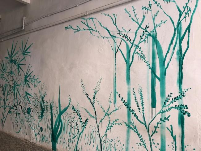 Inauguración 31 marzo. Nave 73. Pintura mural Raúl G. Collado1