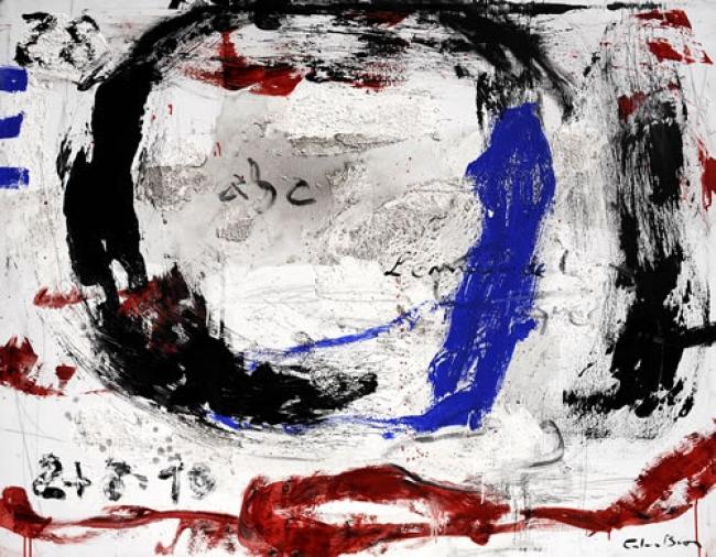 Carles Bros, ABC. Mixta sobre lienzo. 114 x 146 cm. – Cortesía de OMNIUM ARS